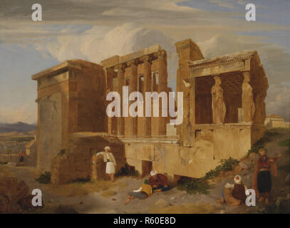 The Erechtheum Athens With Figures In The Foreground , Charles Lock Eastlake.jpg - R60E8D 1R60E8D - Stock Photo