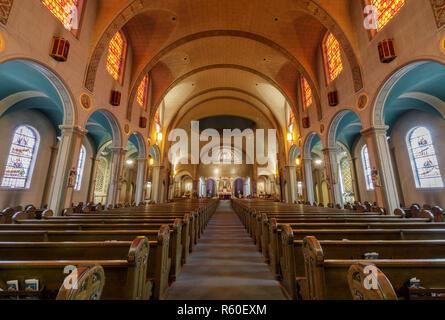 San Francisco, California - March 10, 2018: Interior of Basilica Church of Mission San Francisco de Asis. - Stock Photo