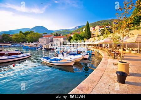 Town of Bol on Brac island waterfront view - Stock Photo