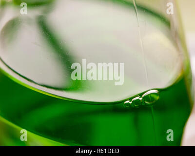 close up of green bottle of fairy washing up liquid - Stock Photo