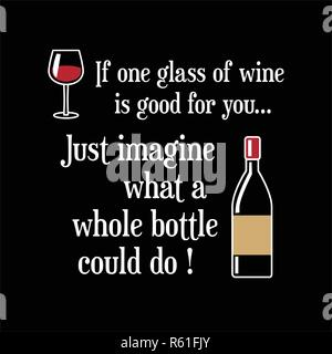 Funny Wine Quote and Saying. 100 vector best for graphic in ...