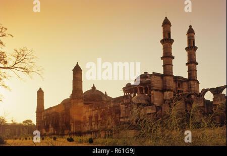 Jami Masjid, Champaner Pavagadh, Gujrat, India - Stock Photo