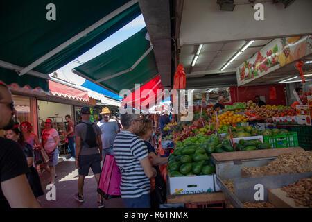 Carmel Market in Tel Aviv, Israel - Stock Photo