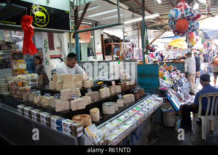 Halva Stall at Carmel Market in Tel Aviv, Israel - Stock Photo
