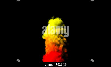 Cg of colorful smoke. Digital illustration. 3d rendering - Stock Photo