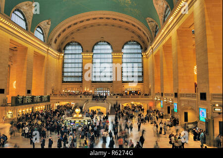 New York,USA-April 22, 2016: Interior of Grand Central Terminal in New York City - Stock Photo