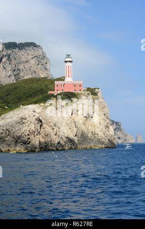 Punta Carena lighthouse on the island of Capri