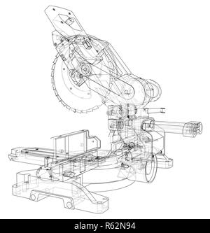 Mitre saw blade concept - Stock Photo