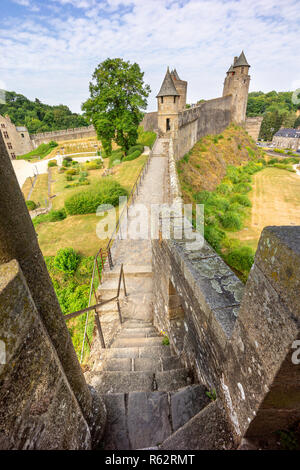 Fougeres castle in Bretagne, France. - Stock Photo