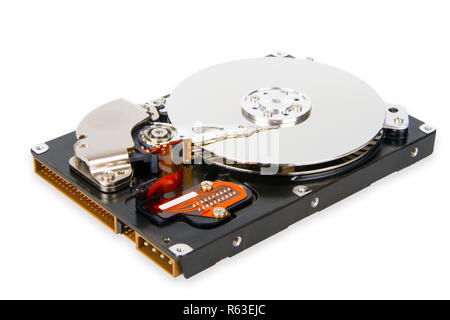 the inside of a hard drive - Stock Photo