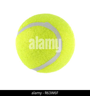 Tennis ball isolated on white background with clipping path - Stock Photo