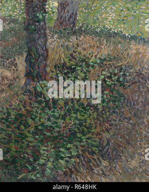 Undergrowth. Date: July 1887, Paris. Dimensions: 46.0 cm x 38.0 cm, 62.8 cm x 55.4 cm. Museum: Van Gogh Museum, Amsterdam. Author: VAN GOGH, VINCENT. VINCENT VAN GOGH. - Stock Photo