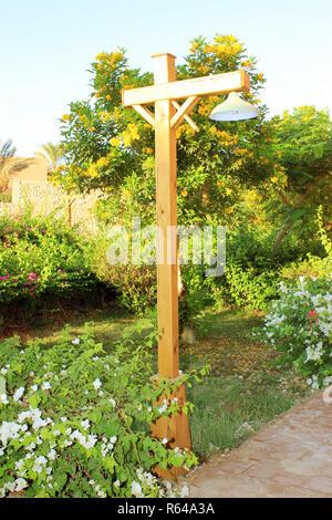 Street wood lamp - Stock Photo