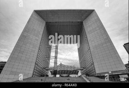 PARIS, FRANCE, SEPTEMBER 7, 2018 - Grand Arch de la Defense, modern business and financial district in Paris, France. Stock Photo