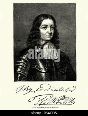 Vinatge engraving of William Penn, (14 October 1644 – 30 July 1718) was the son of Sir William Penn, and was an English nobleman, writer, early Quaker, and founder of the English North American colony the Province of Pennsylvania.