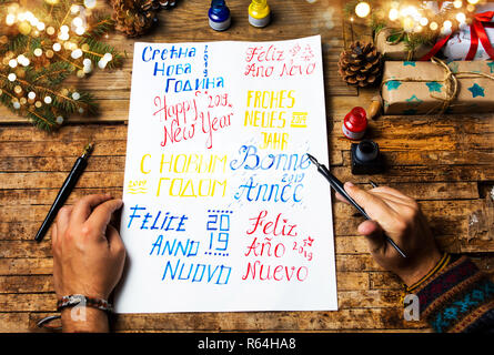 Portuguese Feliz Ano Novo (Happy New Year) message ...