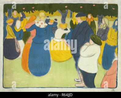 The Village fair (La fête au village). Dimensions: 43.7 cm x 57.8 cm, 39.5 cm x 53.3 cm. Museum: Van Gogh Museum, Amsterdam. Author: RIPPL-RONAI, JOZSEF. - Stock Photo