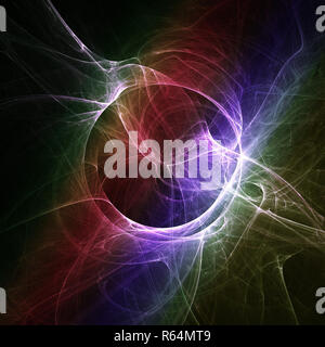 round fractal wallpaper. Abstract background with circle and smoke. - Stock Photo