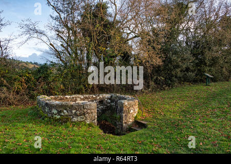 The Virtuous Well at Trellch in South Wales. - Stock Photo