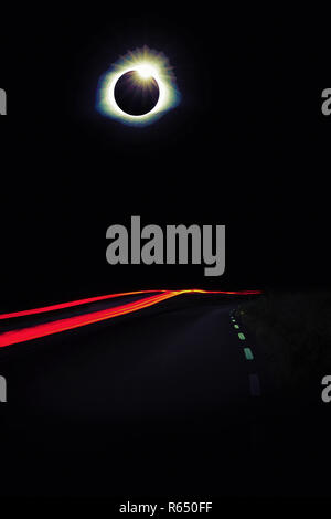 Diamond Ring Solar Eclips over Route 66 by Adam Asar 2.jpg - R650FF  - Stock Photo