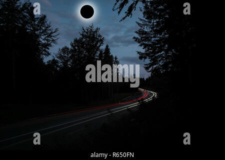 Diamond Ring Solar Eclips over Route 66 by Adam Asar 3.jpg - R650FN  - Stock Photo