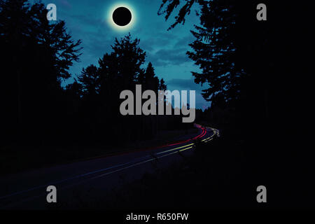 Diamond Ring Solar Eclips over Route 66 by Adam Asar 4.jpg - R650FW  - Stock Photo