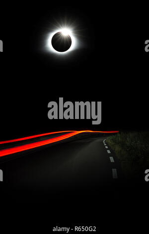 Diamond Ring Solar Eclips over Route 66 by Adam Asar.jpg - R650G2  - Stock Photo