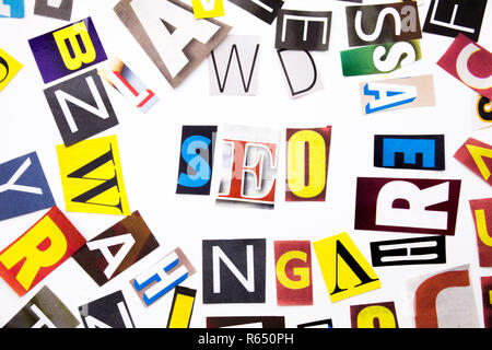 A word writing text showing concept of SEO made of different magazine newspaper letter for Business case on the white background with copy space - Stock Photo