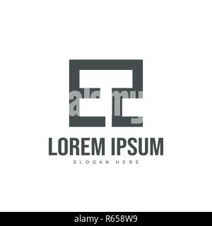 EZ Letter logo design. Initial letter logo template design - Stock Photo
