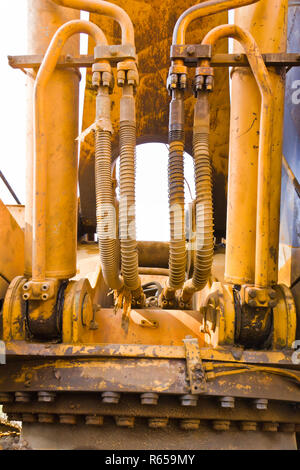 Machinery  bulldozer - Stock Photo