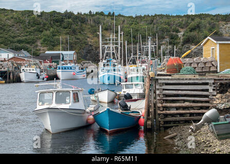 Small Harbor in Newfoundland - Stock Photo