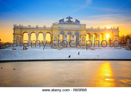 Gloriette in Schonbrunn Palace, Vienna - Stock Photo