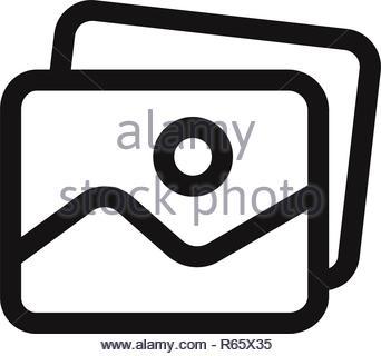 Gallery vector icon - Stock Photo