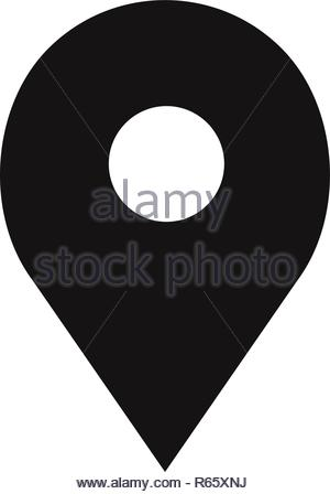 Location icon. Pin symbol. Map pin, pointer, placeholder, GPS sign isolated on white background. - Stock Photo