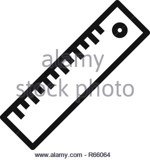 Ruler icon isolated on white background. Ruler icon in trendy design style. Ruler vector icon modern and simple flat symbol for web site, mobile, logo - Stock Photo