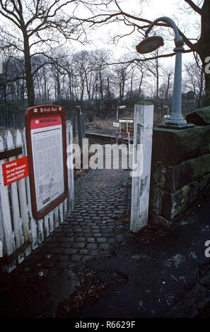 Pleasington station on the British Rail Preston to Colne railway line, Lancashire, Great Britain - Stock Photo