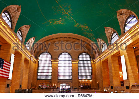 NEW YORK - AUGUST 26, 2018: Grand Central Terminal- railroad terminal at 42nd Street and Park Avenue in Midtown Manhattan in New York City, United Sta - Stock Photo