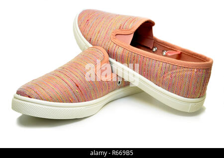 Pink sport running shoes - Stock Photo