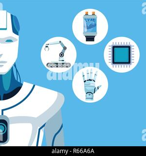 robot with artificial intelligence - Stock Photo