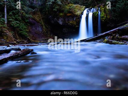 Iron Creak Falls, Mount St. Helens, Washington state - Stock Photo