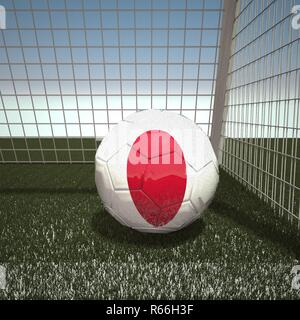 Football with flag of Japan - Stock Photo