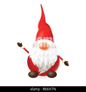 Cute little Gnome isolated on white background - vector illustration - Stock Photo