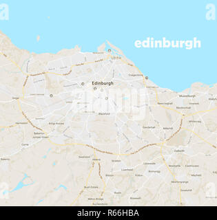 Minimalist Modern Map of IEdinburgh, Scotland 4a.jpg - R66HBA - Stock Photo