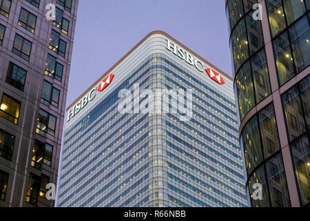 HSBC Bank building in Docklands, London, UK. - Stock Photo