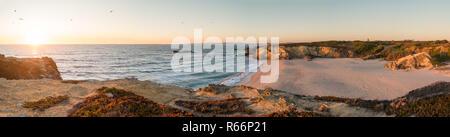 Landscape of Porto Covo beach - Stock Photo