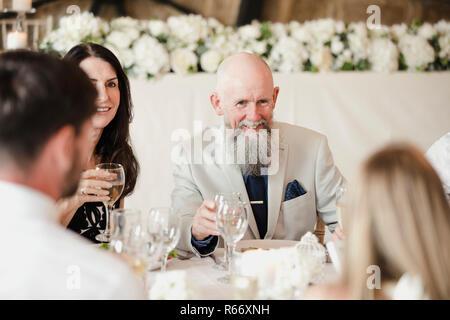 Guests Socialising At Wedding - Stock Photo
