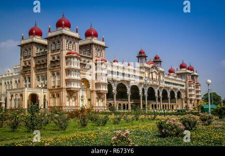 Maharajahs Palace in Mysore - Stock Photo