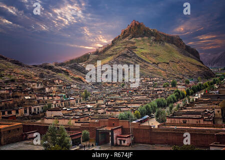 Tibetan Fort in Gyantse - Stock Photo