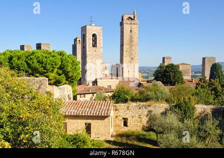 Towers 1 - San Gimignano - Stock Photo