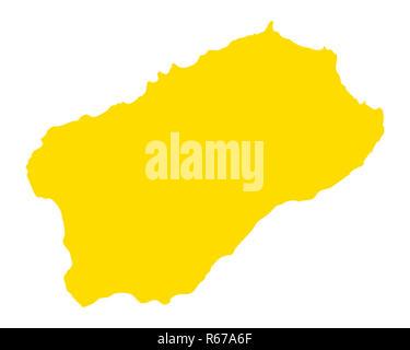 map of santo antao - Stock Photo